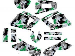 Kit Deco Moto 125 Dtr Dtx Camouflage Vert
