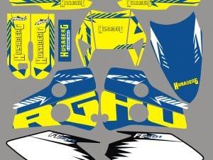 Kit Deco Moto Husaberg 501 Fe Yellow