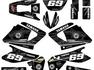 Kit Deco Moto Yamaha 125 Dt Dtr Dtre Dtx Alpinstars Black