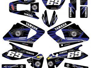 Kit Deco Moto Yamaha 125 Dt Dtr Dtre Dtx Alpinstars Bleu Noir