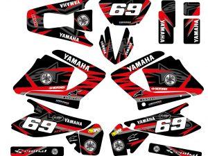 Kit Deco Moto Yamaha 125 Dt Dtr Dtre Dtx Alpinstars Rouge