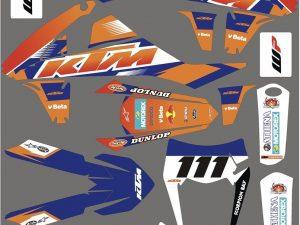 Kit Deco Motocross Ktm Sx Sxf 2016 2018 Factory