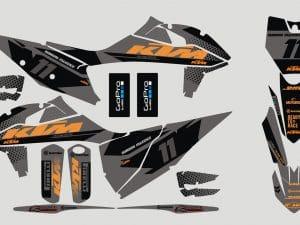 Kit Deco Motocross Ktm Sx Sxf 2019 2020 Black