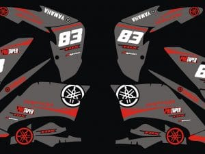 Kit Deco Quad Yamaha Raptor 250 Grey