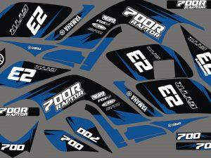 Kit Deco Quad Yamaha Raptor 700 Blue