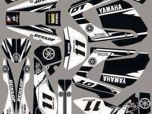 Kit Deco Supermotard Yamaha 125 Dt Dtx Dtr White