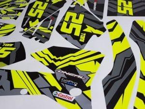 Kit Deco Ktm 2004 2007 Yellow Grey