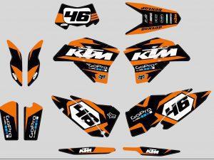 Kit Deco Ktm Exc Orange