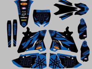 Kit Deco Yz Yzf Black Blue
