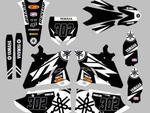 Kit Deco Yz Yzf Black White