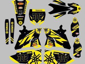 Kit Deco Yz Yzf Black Yellow