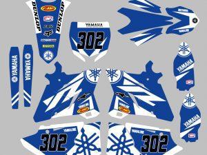 Kit Deco Yz Yzf Blue White