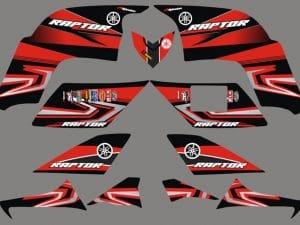 Kit Deco 90 Raptor Yamaha Red
