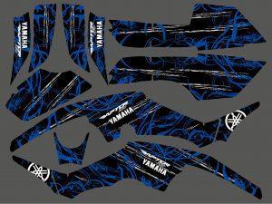 Kit Deco Yamaha 350 Raptor Bleu