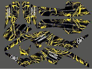 Kit Deco Yamaha 350 Raptor Jaune