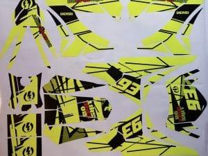 Kit Deco Derbi Carenage Tnt Fluo