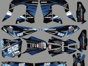 Kit Deco Derbi Drd Pro Blue Line