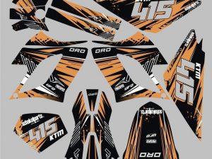 Kit Deco Derbi Drd Racing Orange Line
