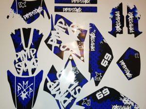 Kit Deco Derbi Drd Racing Pimpstar Blue