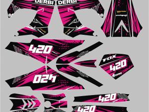 Kit Deco Derbi Victoria Bull Tunr Pink