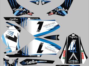 Kit Deco Derbi Xrace Xtreme Blue