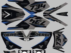 Kit Deco Derbi Xrace Xtreme Grey