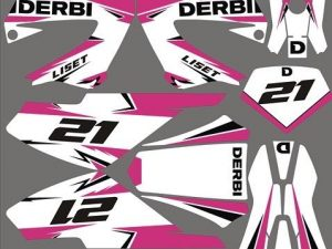 Kit Deco Derbi Xrace Xtreme Pink