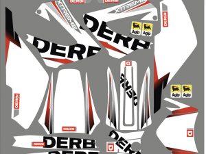 Kit Deco Derbi Xrace Xtreme White