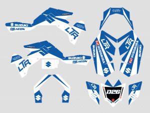 Kit Deco Suzuki Ltr 450 Bleu