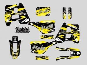 kit deco suzuki 125 tsr yellow line